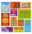 scratch win cards set vector image