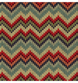 Seamless Ornamental Style Knitted Pattern vector image vector image