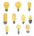 set light bulbs light bulb collection in flat vector image