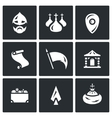 Set of Ancient Russia Icons Bogatyr vector image