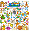 set of beautiful indian design element for happy vector image