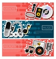 Set of Horizontal Banners about karaoke vector image vector image