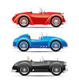 set of retro car vector image vector image