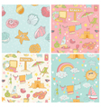 Set of Seaside and Summer Background vector image vector image