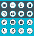 set simple icons element vector image
