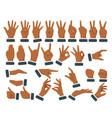 set various hands gestures vector image