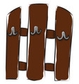 simple brown coat hanger on white background vector image vector image