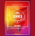 summer sale flyer or poster discount label vector image