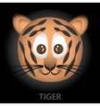 tiger cartoon character head eps10 vector image vector image