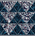 triangle seamless pattern with stone texture vector image vector image