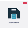 two color floppy disk save button icon from user vector image vector image