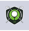 Vintage color golf badge vector image vector image