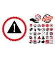 Warning Flat Icon with Bonus vector image vector image