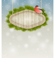 winter background with bullfinch vector image vector image
