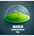 world environment day label or banner vector image