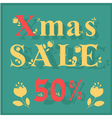 Xmas Sale Fifty percents vector image vector image