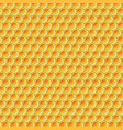 yellow honey pattern vector image vector image