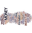 zero down text background word cloud concept vector image vector image