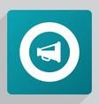 flat speaker symbol icon vector image