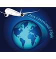 international flight vector image