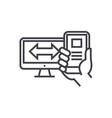 responsive design concept thin line icon vector image