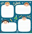 School tags vector image