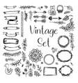 set vintage vector image