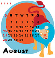 2016 august lion vector image vector image