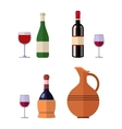 Alcohol drink wine bottle vector image vector image