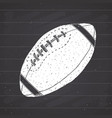 american football rugby ball hand drawn grunge vector image vector image