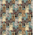 ancient castles seamless pattern abstract vector image vector image