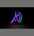 ao artistic brush letter logo handwritten vector image vector image