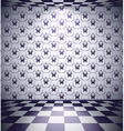 Black and white room vector image vector image