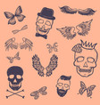 boys patches collection tattoo outline vector image vector image