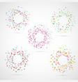 bright colorful abstract circle templates vector image