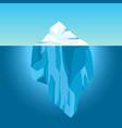 cartoon iceberg in water big iceberg floating vector image vector image