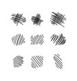 collection of hand drawn lines vector image vector image