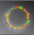 colorful color magic circle glowing rainbo vector image