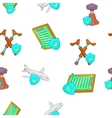 Crash pattern cartoon style vector image vector image