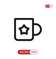 cup with star sign icon vector image vector image