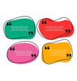 curve shape quotes template in four colors vector image