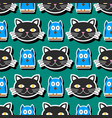cute cats character different heads vector image vector image