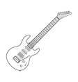 dark contour electric guitar technical vector image vector image