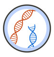 dna under microscope icon flat style vector image vector image
