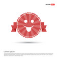 emoji icon - red ribbon banner vector image