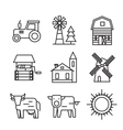 farm flat icons vector image vector image