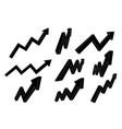 financial indication arrows up black flat signs vector image