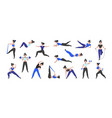 fitness workout cartoon woman character doing vector image