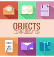 Flat education concept icon set vector image vector image
