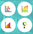 flat icon chart set of infographic pie bar vector image